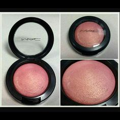 Mac Petal Power Blush #Maccosmetics Gorgeous blush color on the cheeks! I love the color but it doesn't work for my darker complexion MAC Cosmetics Makeup Blush
