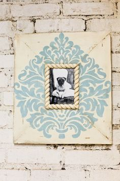 Shabby Distressed Picture Frame Turquoise on by deltagirlframes, $65.00