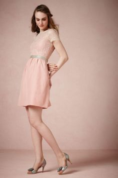 This could be a really cute bridesmaid dress. Not this color, but it;s a cute cut.  BHLDN