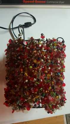 Vintage beads Brass hanging SWAG lamp chandelier | eBay