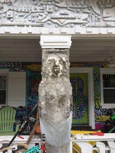 The Mermaid's  #MADHouse #MadDogArtGallery #MarkDurham #MADArt #Mermaid #sculpture #UniqueHomes #WildHomes #ArtistsHome