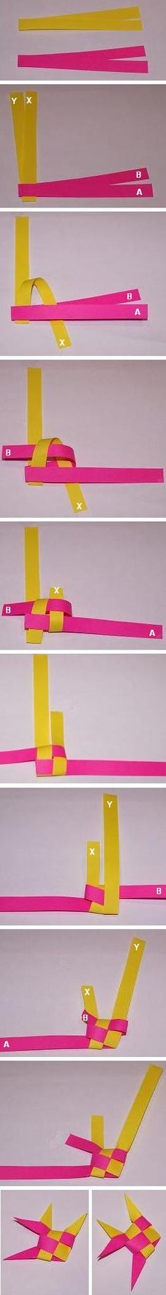 Make an easy fish by weaving strips of paper or ribbon.  Easy to make, fun to do, kid friendly craft.