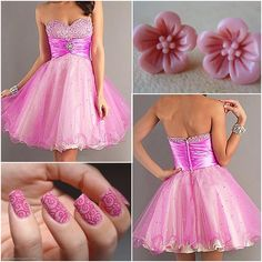 $104.99,Sweet Tulle  Stretch Satin A-line Sweetheart Empire Waistline Homecoming Dress