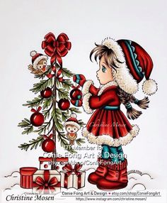 Copic coloring image from Conie Fong - Sallys Christmas Friends Copic, Namaste, Coloring, Friends, Christmas, Image, Design, Art, Yule