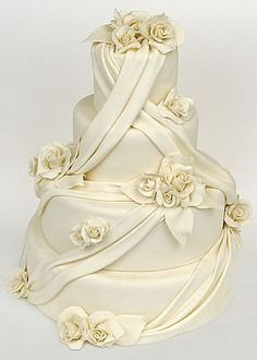 Beautiful Ivory Draped With Roses