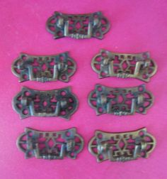 7 Small Vintage Drawer Pulls - Great For Jewelry Boxes And Small Cabinets…