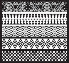 Jali verschillende patronen
