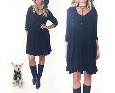 Vintage Midnight Black STEVIE NICKS Baby by GimmeShelterVintage