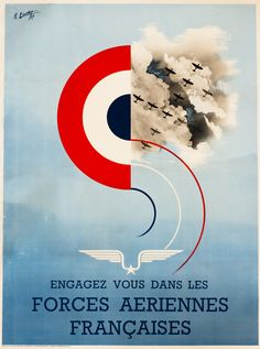 Forces Aeriennes Francaises (Join the French Air Force) by Louvat, R. | Vintage Posters at International Poster Gallery
