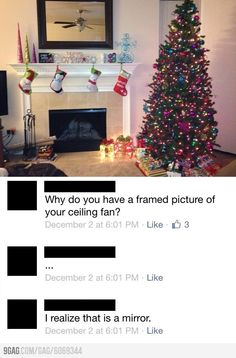 Why do you have a framed picture of your ceiling fan?