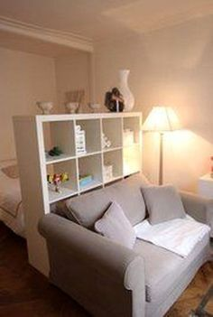 50 Brilliant Studio Apartment Decor Ideas On A Budget. Brilliant Studio Apartment Decor Ideas On A Budget One of the main problems faced by people living in studio apartments is the lack of space, which makes them […] Studio Apartment Decorating, Apartment Interior Design, Room Interior, Interior Design Living Room, Design Bedroom, Studio Apartment Furniture, White Studio Apartment, Interior Design Services, Kitchen Interior