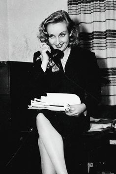Carole Lombard during her week handling publicity for Selznick International Pictures, July 1938.