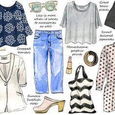 Scandinavian style for @hellogiggles #fashion #mangomini #illustration #cindymangomini #scandinavia