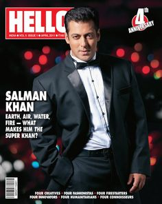 Salman Khan's charismatic look on Hello coverpage Salman Khan Wallpapers, Salman Khan Photo, T Shirt Time, King Of Hearts, Outfit Trends, Celebrity Outfits, Bollywood Stars, Good Looking Men, Gorgeous Men