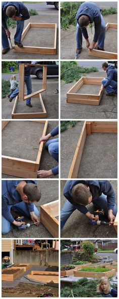If space is an issue the answer is to use garden boxes. In this article we will show you how all about making raised garden boxes the easy way. Veg Garden, Garden Boxes, Easy Garden, Vegetable Gardening, Kitchen Gardening, Flower Gardening, Flowers Garden, Building Raised Garden Beds, Cheap Raised Garden Beds
