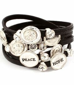 Faux Leather Multi Strand Believe, Hope, Peace Engraved Bracelet - Silver and Black Leather Unique Boutique,http://www.amazon.com/dp/B00B2OMTPM/ref=cm_sw_r_pi_dp_zcVvsb0987TP1SF2