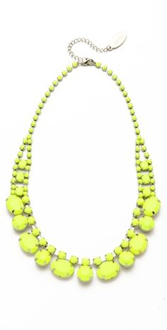 A happy little addition to my neon-centric jewelry collection.  $54.