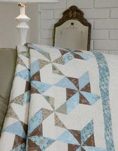 Friday Free Quilt Patterns: Blue Ribbon Swirls Queen Quilt