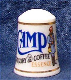 CAMP COFFEE THIMBLE FRANKLIN MINT