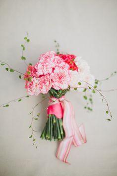 DIY: Hot Pink Carnation Bouquet
