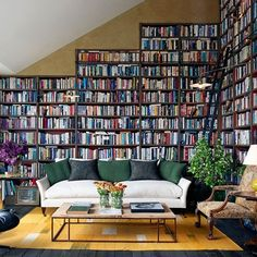 Design ideas for bookshelves to fit any budget or library, freestanding & modular, custom-made & DIY, to fit spaces from an entire wall or a small alcove