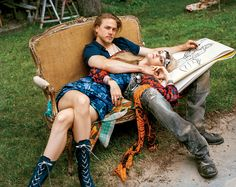 These might be the same boots Charlie Hunnam wore in the final Sons of Anarchy episode. @vogue