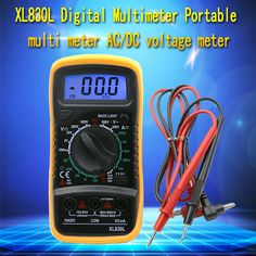 High Quality Handheld Counts With Temperature Measurement LCD Digital Multimeter Tester XL830L Without Battery