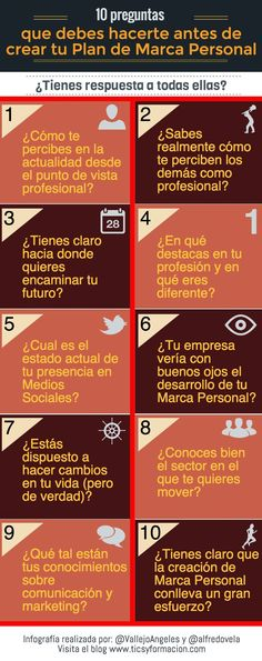 Marketing, #RRHH2.0, Branding: 10 preguntas de #diagnóstico de tu #plan de #Marca Personal