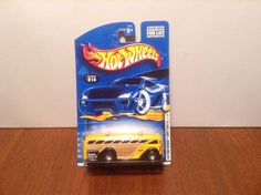 Hot Wheels Surfin' School Bus #14 2001 First Editions Yellow w/ Purple Windows #HotWheels
