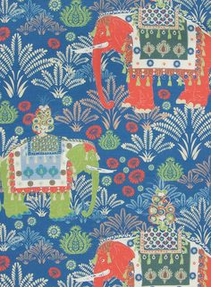 Charlotte Gaisford British fabric and wallpaper designer First Day Of Spring, Elephant Pattern, Birthday Presents, Fabric Design, Orlando, Empire, Charlotte, Kids Rugs, Quilts