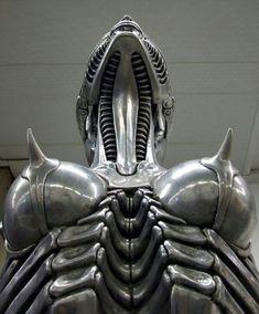 Using the human body and turning it into robotics. (Bio-mechanics) H.R Giger