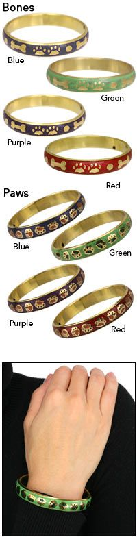 Circling Paws Brass Bangle Bracelet at The Animal Rescue Site