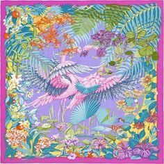Hermes scarf...pink flamingos.