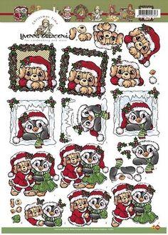 Nieuw bij Knutselparade: 4802 Yvonne Creation's knipvel kerst HJ7801 https://knutselparade.nl/nl/kerstmis/1807-4802-yvonne-creation-s-knipvel-kerst-hj7801.html Knipvellen, Kerstmis - Yvonne Creations