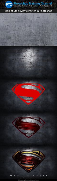 Recreate the cool looking Superman Man of Steel teaser movie poster using professional Photoshop techniques!