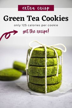 If you're a fan of the bitter-sweet, earthy taste of matcha in your sweets, these vegan matcha cookies are a must-try. They're light and crisp, and go perfectly with a cup of tea. #matchacookies #shortbreadcookies #vegan