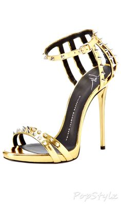Giuseppe Zanotti Studded Italian Leather Dress Sandal