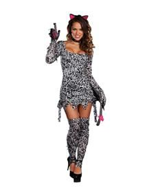 Cat Fight Kitty Adult Womens Costume