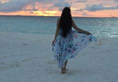 Maldives part III - Sabrina Tubic Paradise Island, Floral Maxi Dress, Maldives, Tie Dye Skirt, Black And Brown, Cover Up, Vacation, Beach, Amazing
