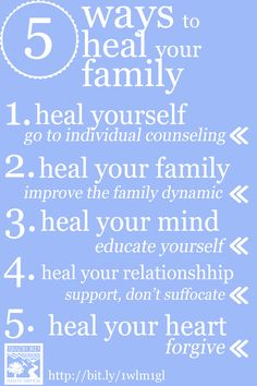 5 Ways to Heal Your Family via Bradford Health Services #recovery