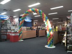 In store promotional arch