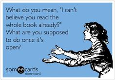 That's what happens with a great book...