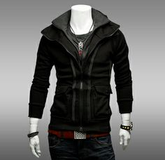 Men 's Double Zip Free Style Hoodie (I'd rock this even if I am not a guy)