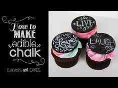 TheCakingGirl: How To Make ChalkBoard Cake