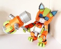 Posable Silvine RoboCat with Hammer Free Papercraft Download - http://www.papercraftsquare.com/posable-silvine-robocat-with-hammer-free-papercraft-download.html#Hammer, #Posable, #RoboCat, #Silvine