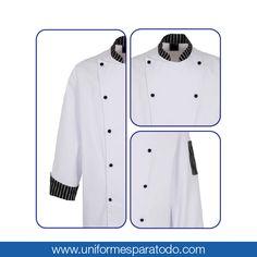 Hay que tener en cuenta que el delantal debe ser lo más cómodo y práctico posible, ya que sabemos que en la cocina estás en constante movimiento. ¡Cuenta con nosotros para tener el uniforme que deseas! #UniformesParaTodo #Cocina #Chef #Personalizar #Estilo
