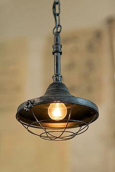 Oohlong Market Old Factory Design Antiqued Metal Pendant Lamp Farmhouse Lighting, Rustic Lighting, Vintage Lighting, Farmhouse Decor, Industrial Style Lighting, Industrial Light Fixtures, Industrial Pendant Lights, Industrial Farmhouse, Lighting Ideas