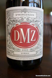 DeMorgenzon DMZ Syrah 2009 - Smoking! $12, http://www.reversewinesnob.com/2012/07/demorgenzon-dmz-syrah-2009-smoking.html