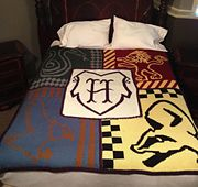 Ravelry: Harry Potter Houses of Hogwarts Blanket pattern by Karly's Knits and Crochets
