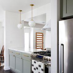 home progress: kitchen update - smitten studio // sarah sherman samuel Updated Kitchen, New Kitchen, Kitchen Dining, Kitchen Decor, Open Galley Kitchen, Kitchen Island, Kitchen Modern, Minimalist Kitchen, Modern Farmhouse